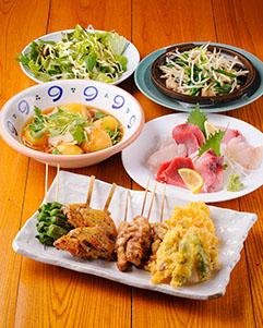 四季映す旬のお料理が多数! 選べる飲み放題!